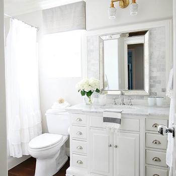 Gray and White Bathroom IDeas, Transitional, Bathroom, Benjamin Moore Pale Oak