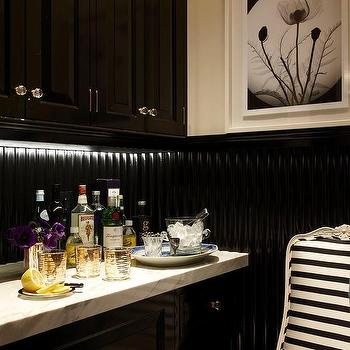 Black and White Stripe Chair, Transitional, Kitchen