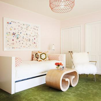 White Lacquered Daybed, Contemporary, Girl's Room