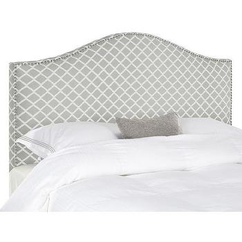 Safavieh Connie Grey White Polyester Fabric Full Headboard