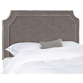 Safavieh Dane Charcoal Brown Queen Size Headboard