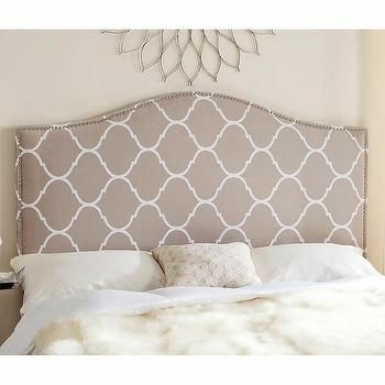 Safavieh Connie Pearl Grey Headboard
