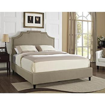 Powell Keystone Nail Head King-size Headboard