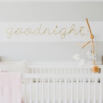 Striped Nursery Walls, Contemporary, Nursery