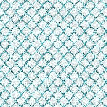 Quinn Scalloped Aqua Fabric