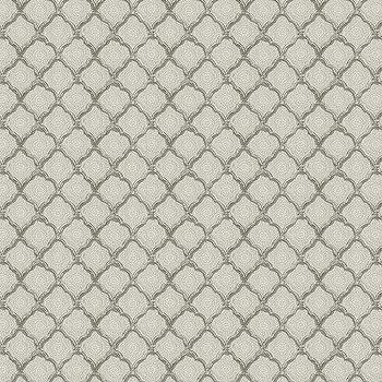 Quinn Scalloped Gray Fabric