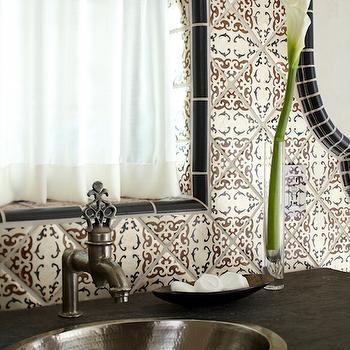 Hammered Metal Bathroom Sink, Mediterranean, Bathroom