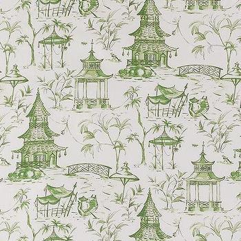Pagodas Jade, Printed Fabric