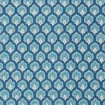 Isla Cyan, Printed Fabric