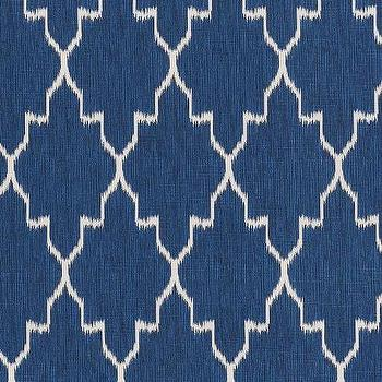 Monaco Cobalt Cotton, Printed Fabric