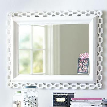Hannah Decorator White Mirror