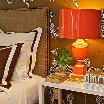Orange and Brown Boys Room, Transitional, Boy's Room