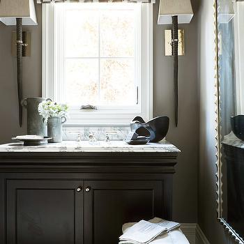 Barbara Cosgrove Horn Sconce, Transitional, Bathroom