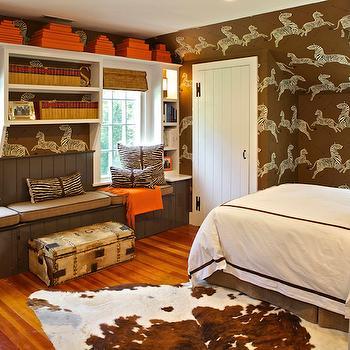 Brown and Orange Kids Room, Cottage, Boy's Room