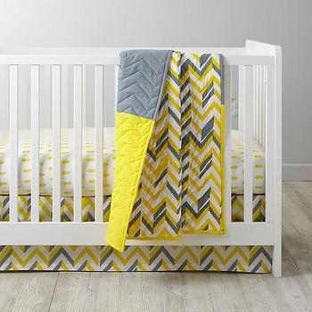 Little Yellow Prints Crib Bedding