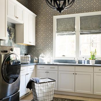 Laundry Room with Soapstone Countertops, Transitional, Laundry Room