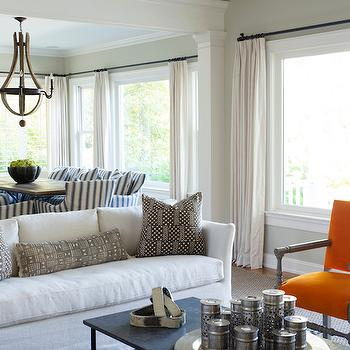 Orange Accent Chairs, Transitional, Living Room
