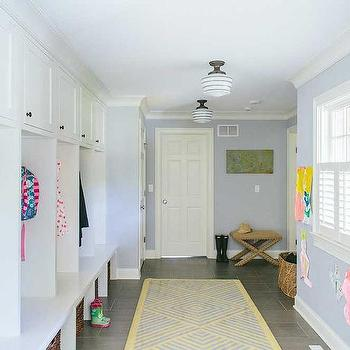 Mudroom with Individual Lockers, Transitional, Laundry Room