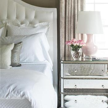 Pink and Gray Master Bedrooms, Transitional, Bedroom