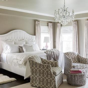 Gray Bedroom with Pink Accents, Transitional, Bedroom