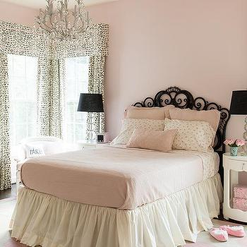 Pink and Black Girls Bedroom, Transitional, Girl's Room