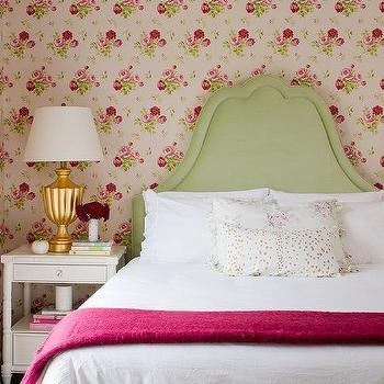 Green and Pink Cottage Bedrooms, Cottage, Bedroom