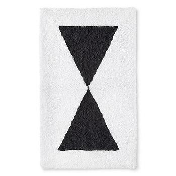 Nate Berkus Graphic Black White Bath Rug