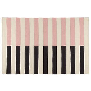 Half Stripe Pink Rug