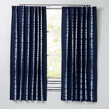 Tie-Dye Blue Curtain Panels