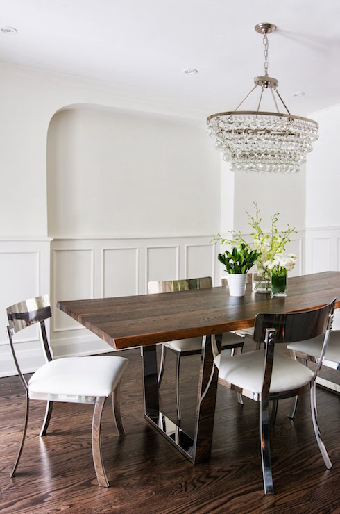 Trim Molding Wainscoting Transitional Dining Room
