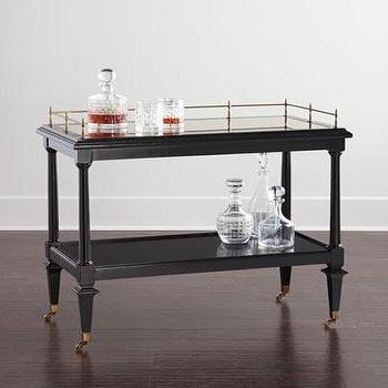 Barclay Butera Jackson Black Bar Cart