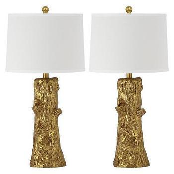 Safavieh Arcadia Faux Bois Gold Table Lamp