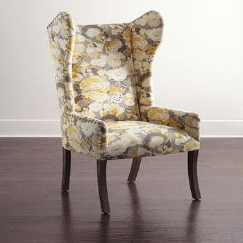 Tressa Hostess Yellow Floral Chair