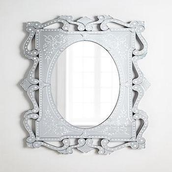 Bertolini Venetian Engraved Mirror