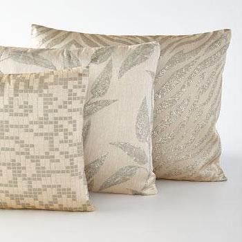 Donnelly Metallic Silver Pillows