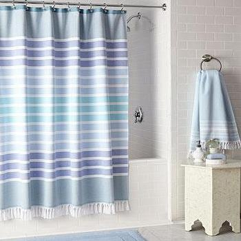 Kassatex Bodrum Striped Shower Curtain