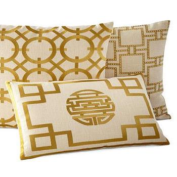 Rhein Crisanto Gold Pillows