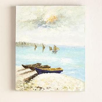 End of Day Seascapes Impressionist Painting