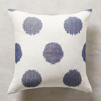 Ink Drop Blue Dot Pillow