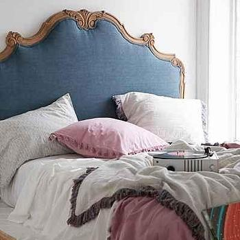 Plum and Bow Margaux Blue Linen Headboard