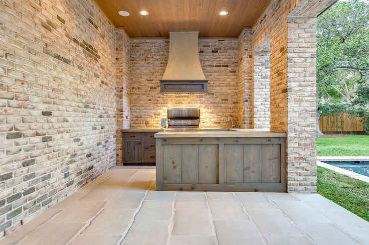 Outdoor Kitchen With Stacked Stone 2017 2018 Best Cars