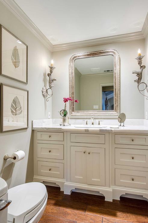 French Powder Room Design French Bathroom
