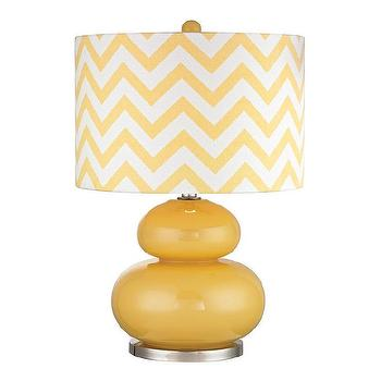 Dimond Tavistock Sunshine Yellow 1-light Glass Table Lamp