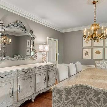 Gray French Dining Room, French, Dining Room