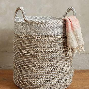 Sun Stream Tan Two Tone Seagrass Basket