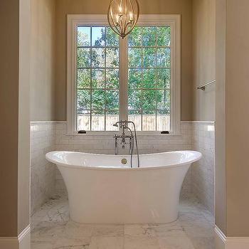 Tub in Alcove, Transitional, Bathroom