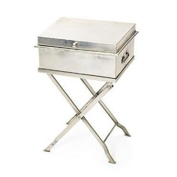 Bellmans Polished Nickel Side Table