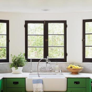 Kelly Green Kitchen Cabinets, Transitional, Kitchen
