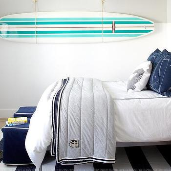 Kids Room with Surfboard, Cottage, Boy's Room