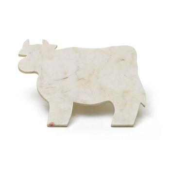 Marble Cow Shape Cheese Board